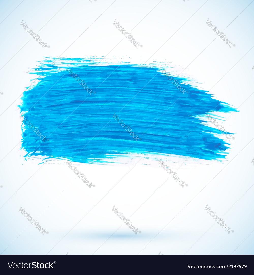 Blue paint texture stain vector