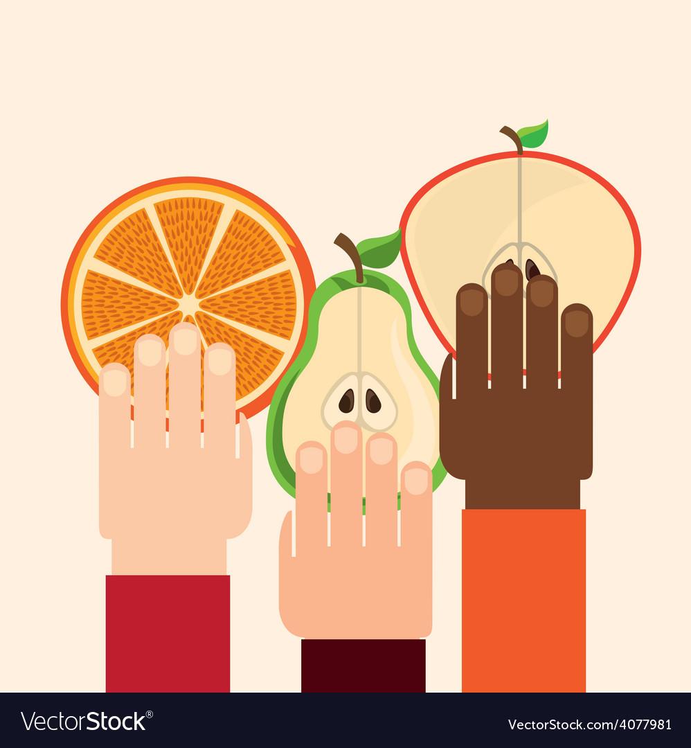 Healthy fruits vector