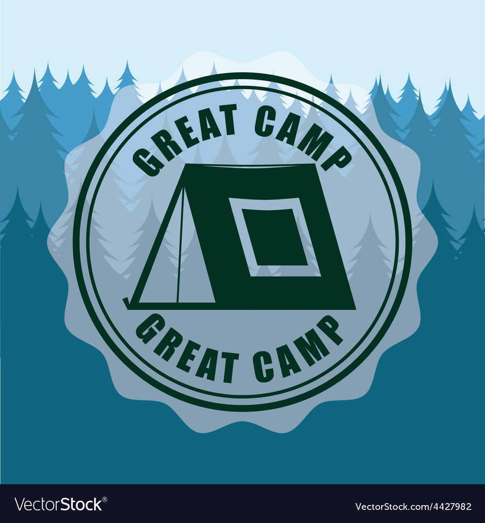 Great camp vector