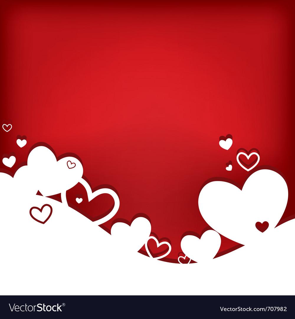Hearts valentine card vector