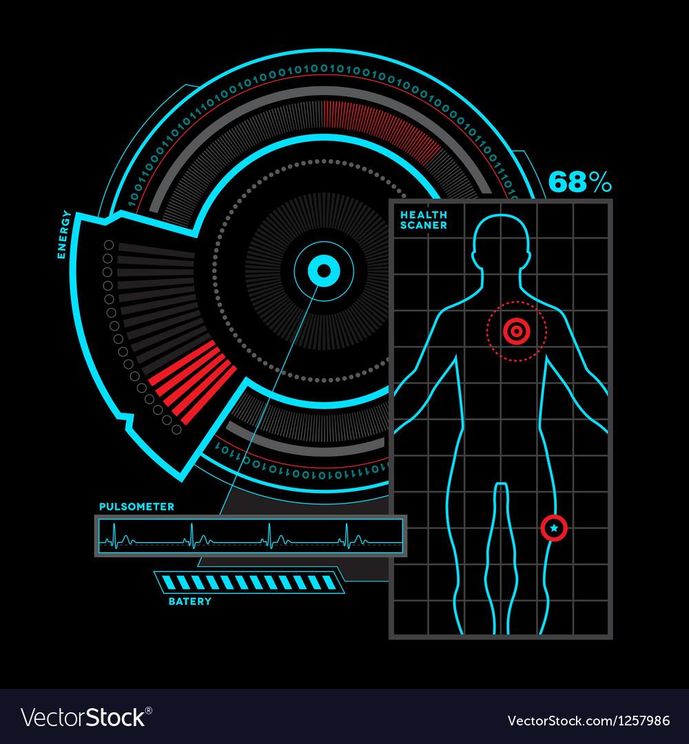 Health scanner interface vector