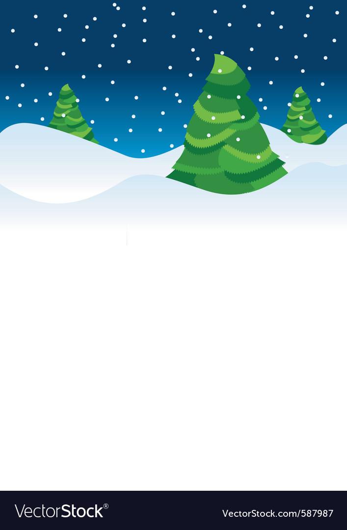 Christmas tree backdrop vector
