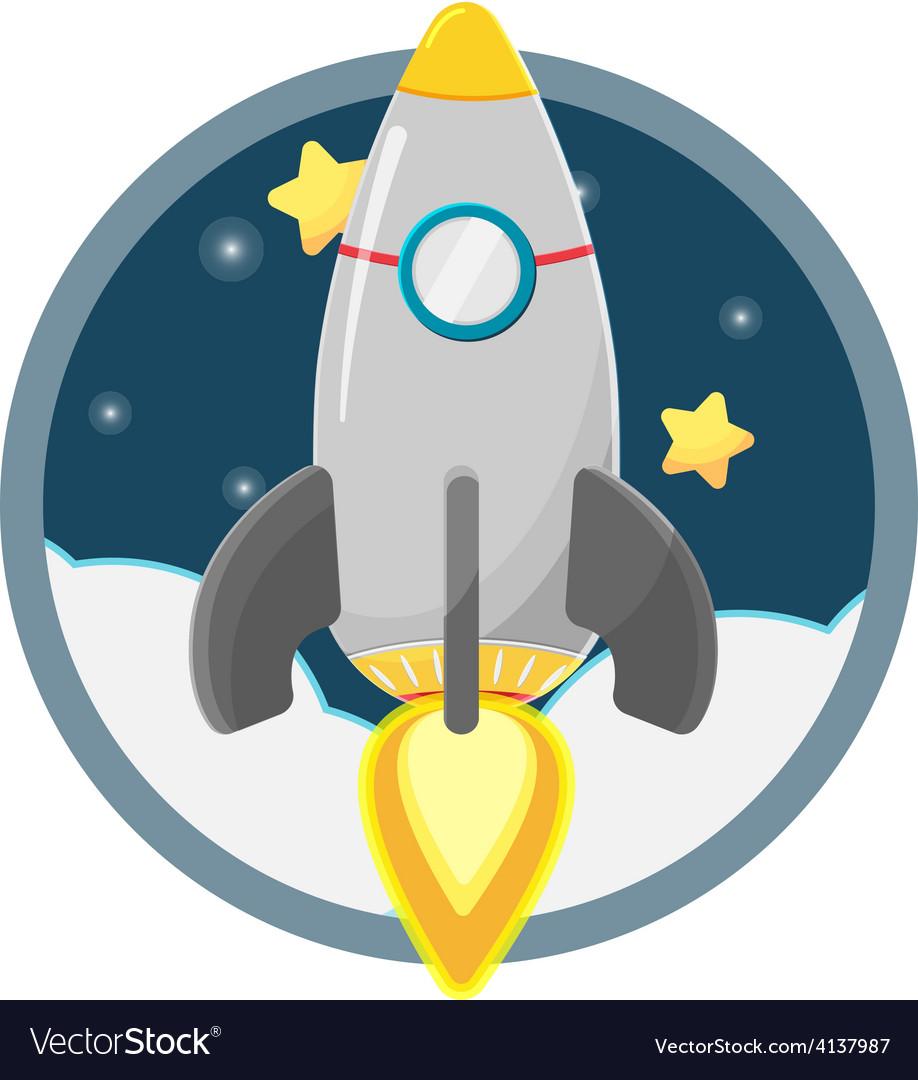 Rocket star space soar vector