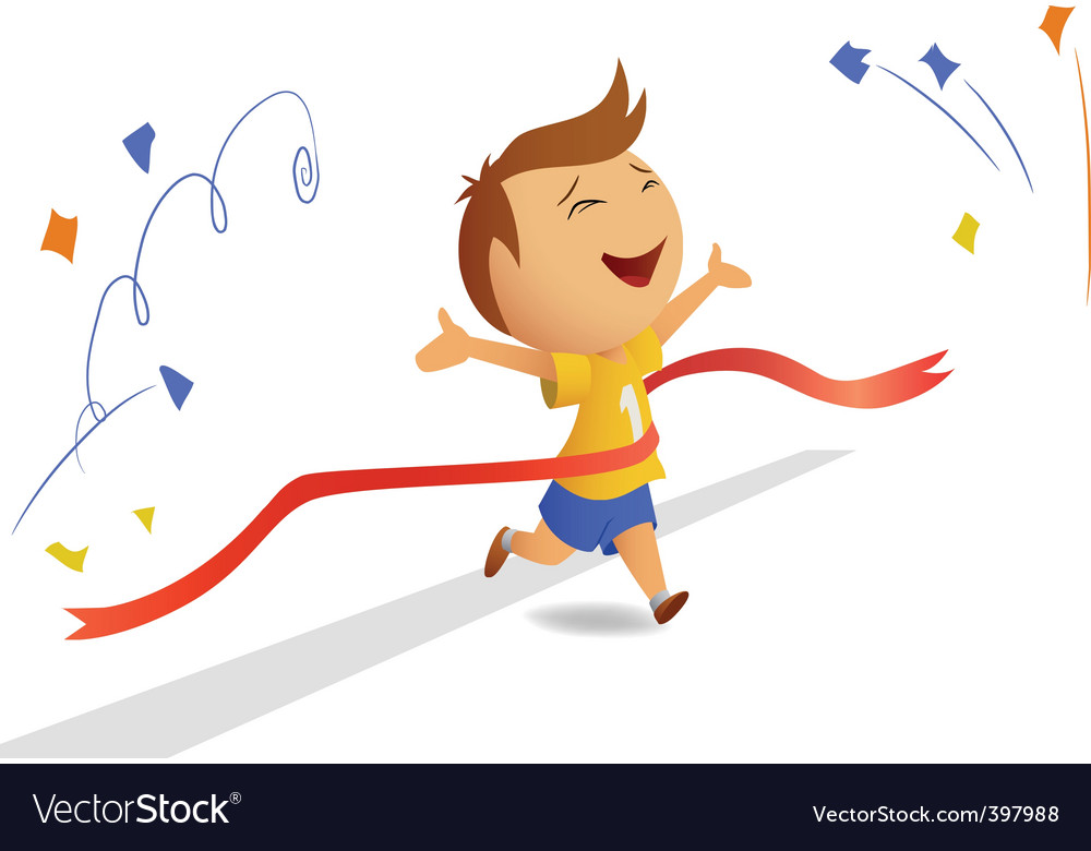 Finishing runner with finished ribbon vector