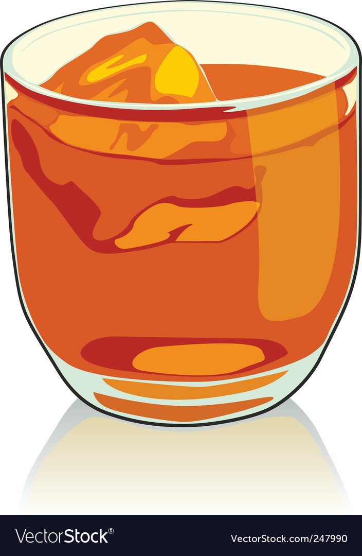 Whiskey glass vector