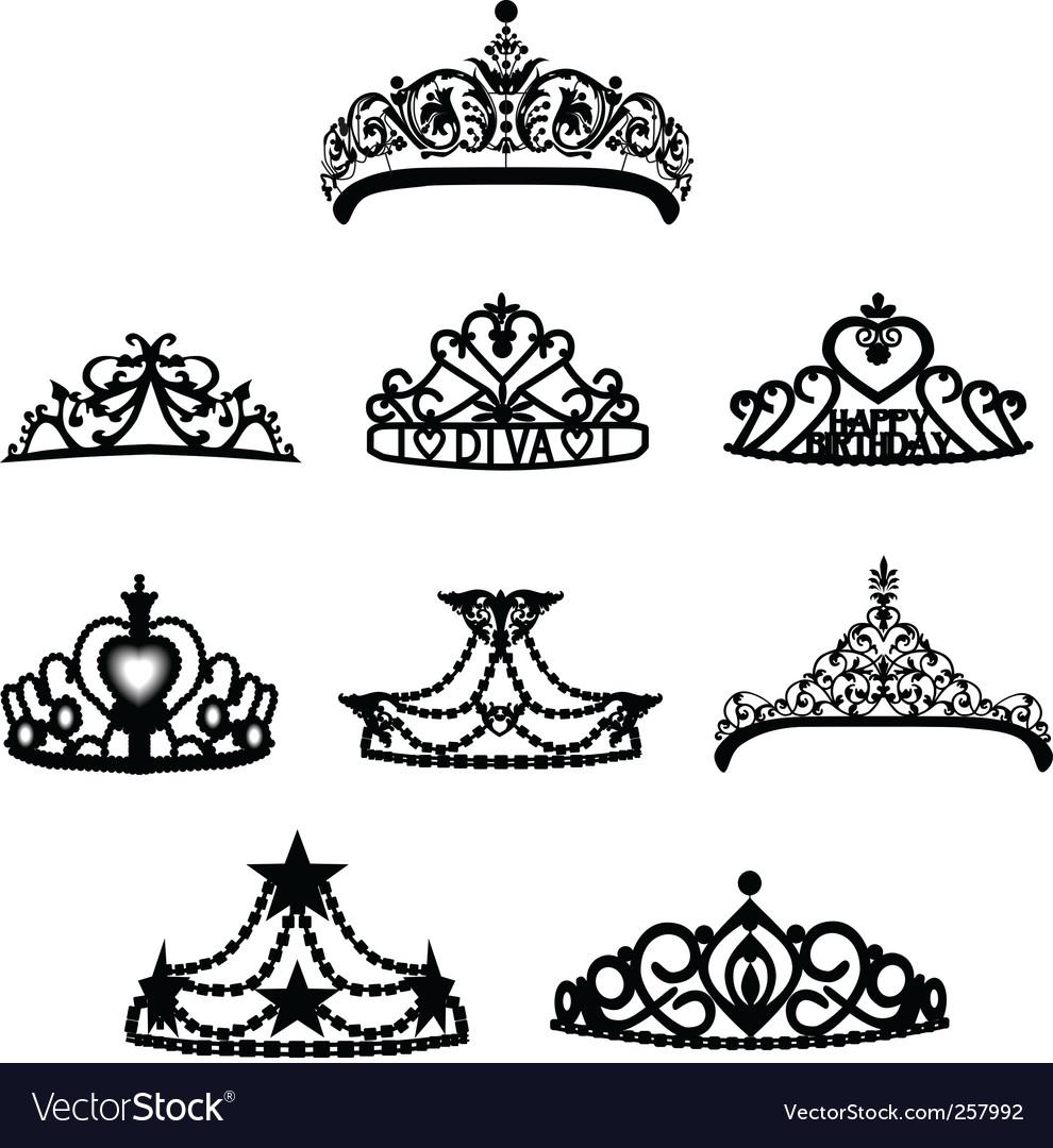 Crown tiara vector