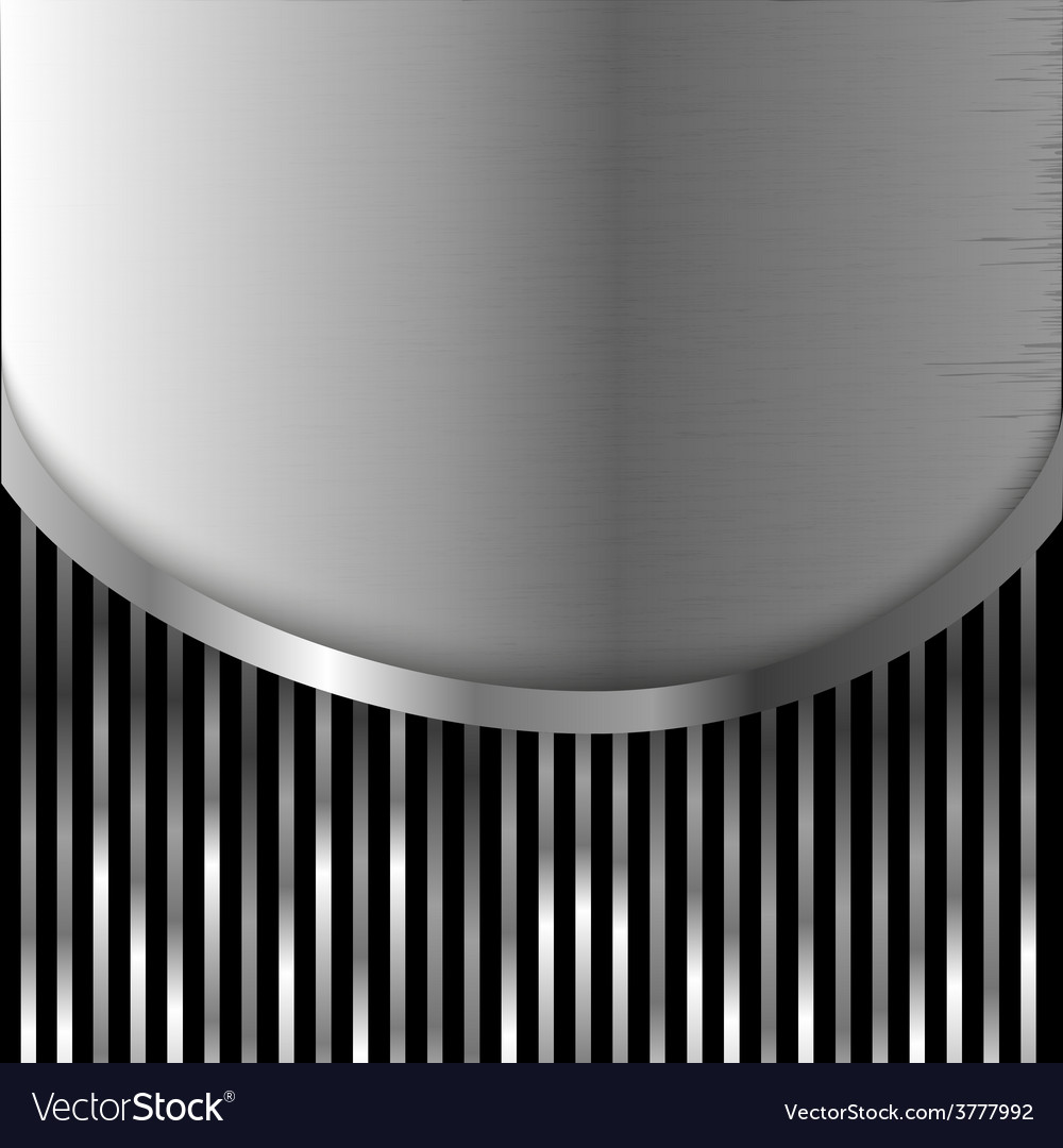 Metal plate on stripes background vector