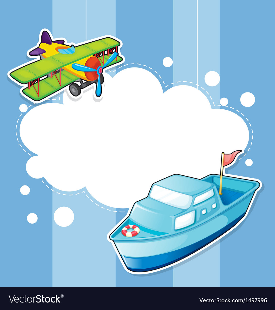 A stationery with a ship and a boat vector