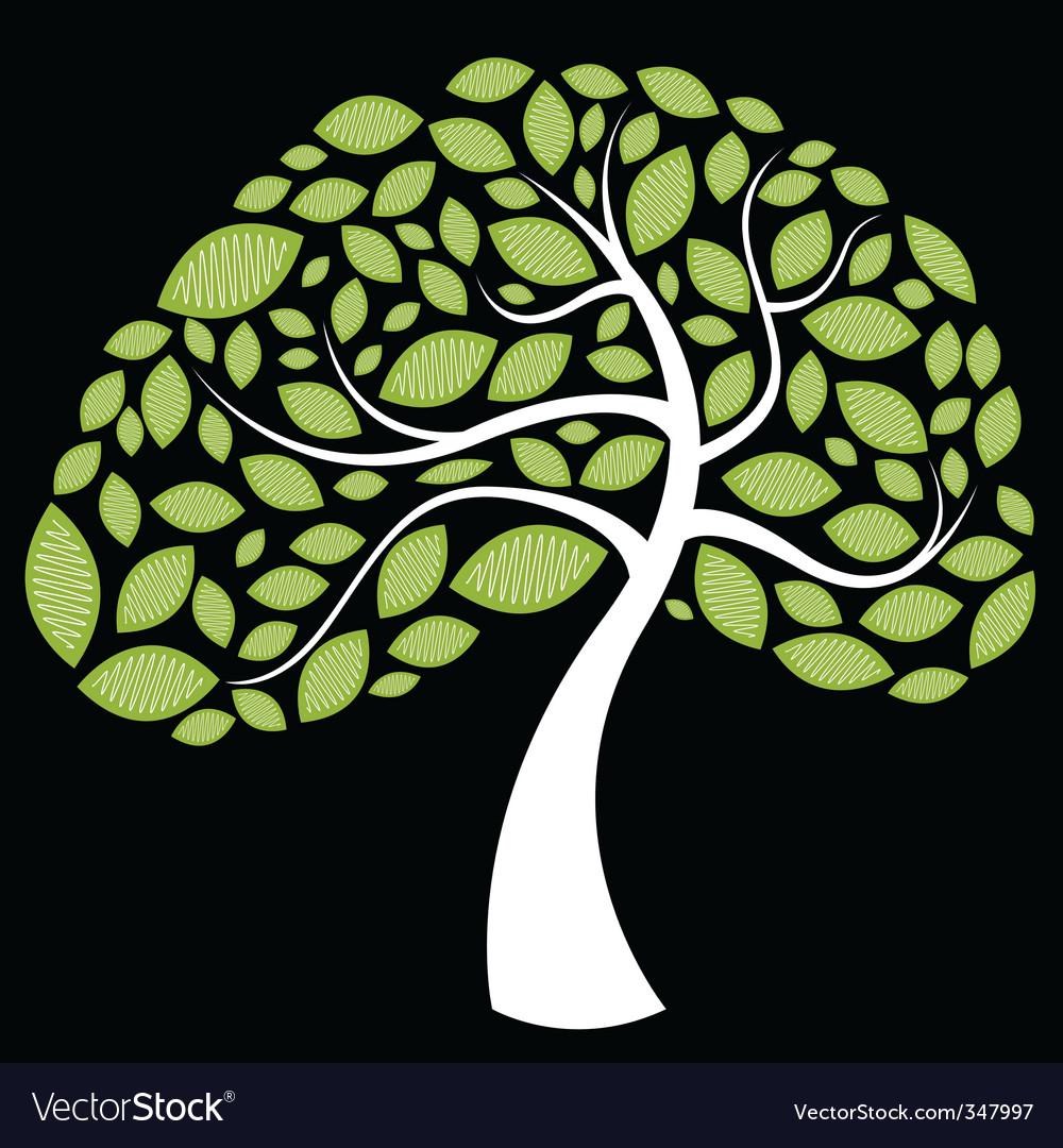 Tree leaves vector