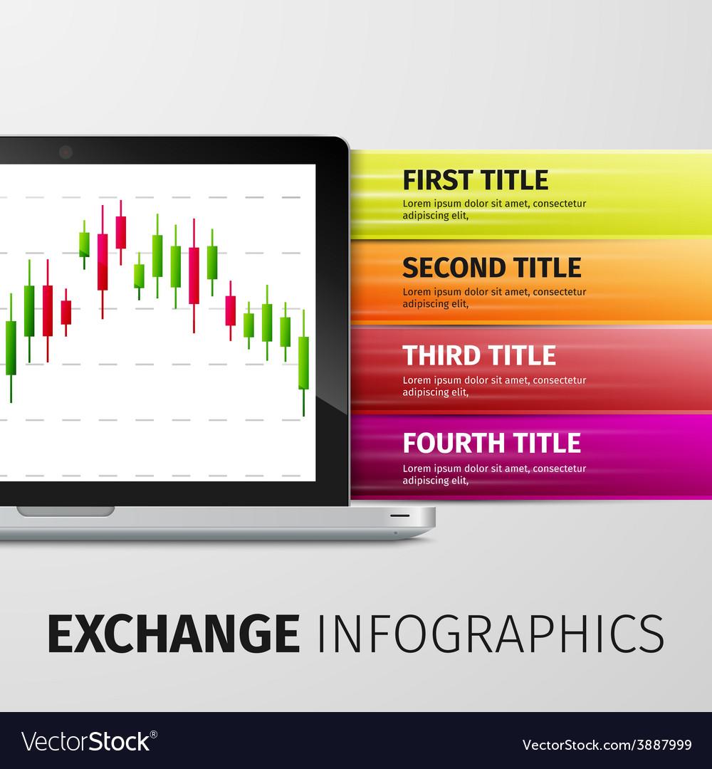 Exchange infographics vector