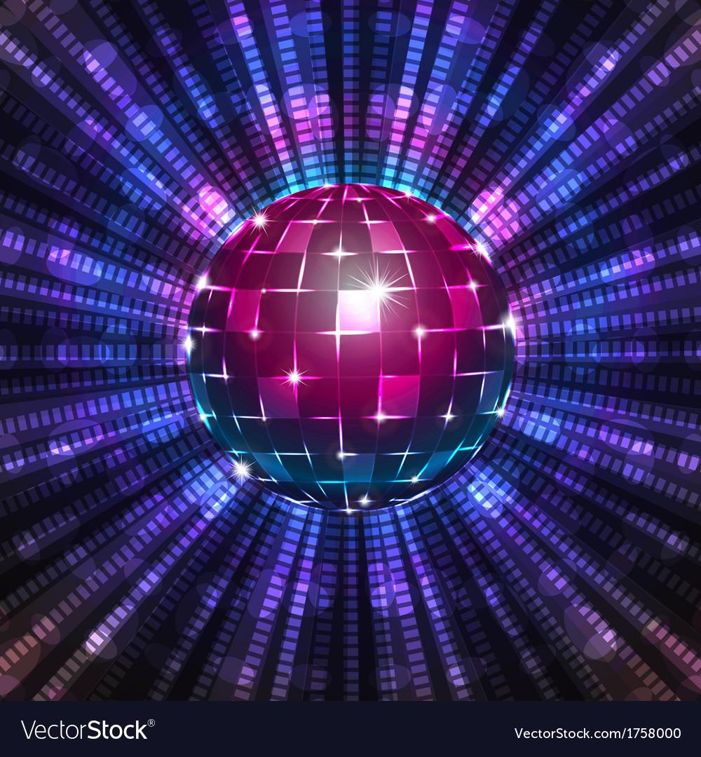 Fluorescent disco ball vector