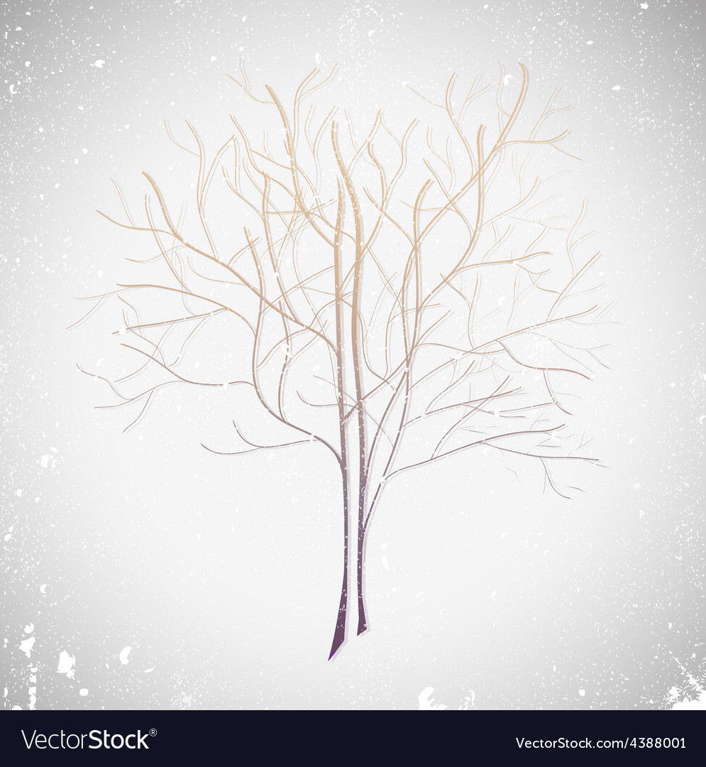 Abstract violet tree vector