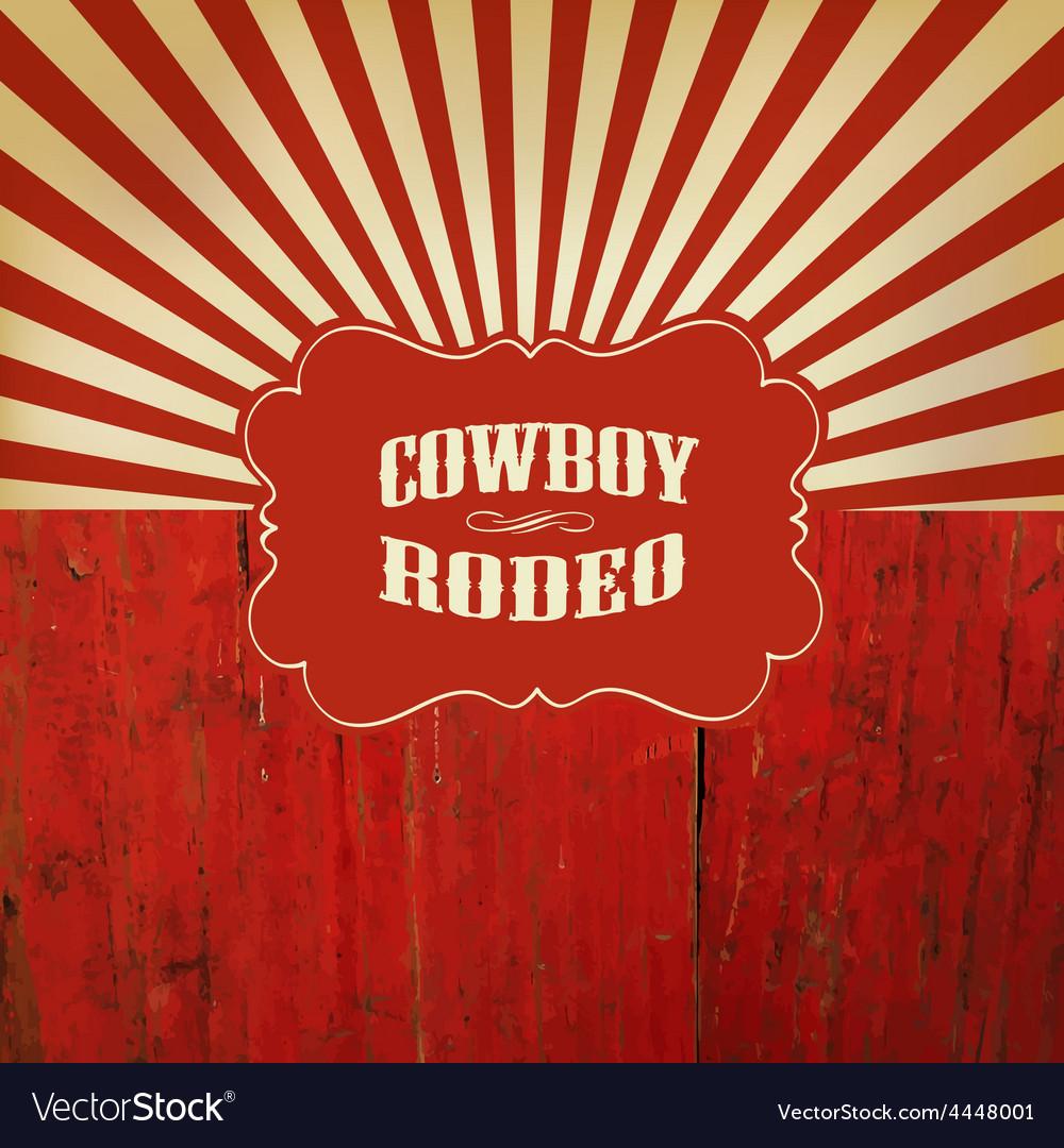 Rodeo retro background vector