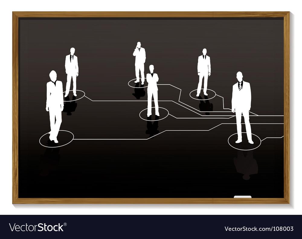 Business blackboard vector