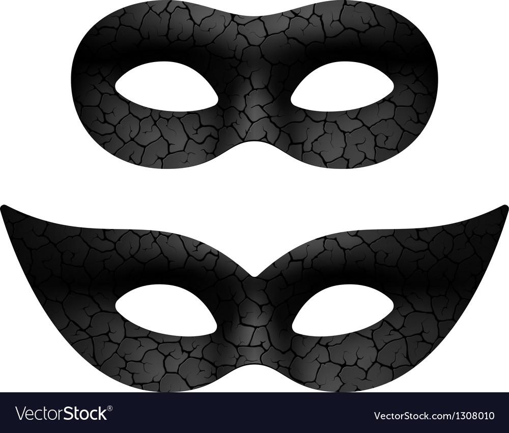 Masquerade eye mask vector