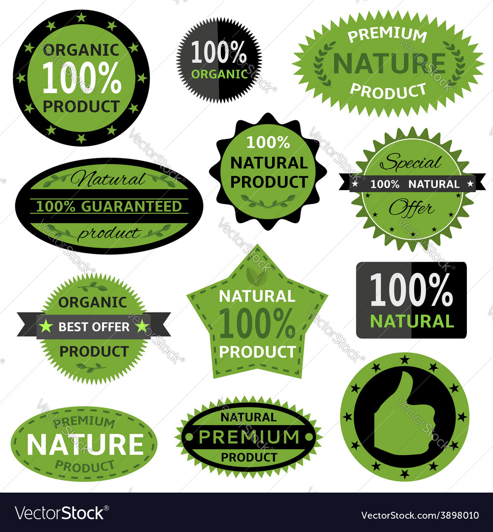 Nature labels vector