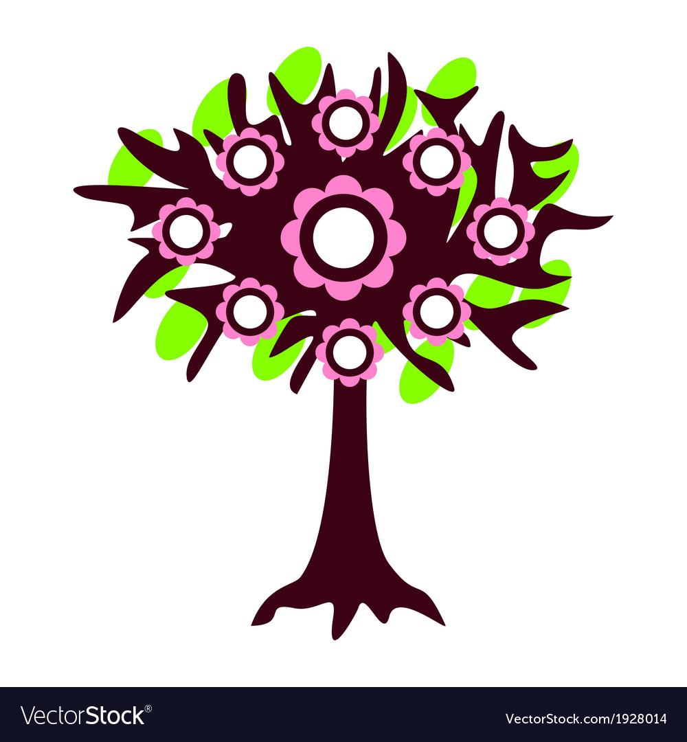 Tree isolated vector