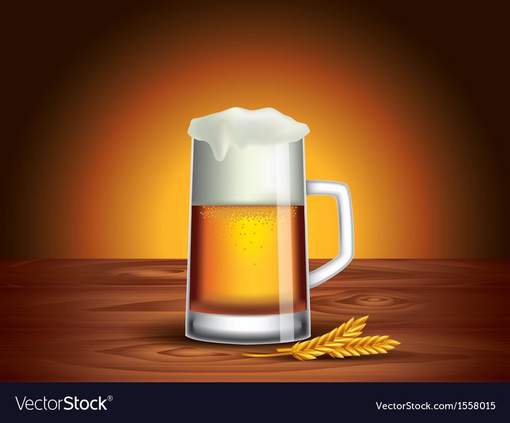 Beer mug background vector