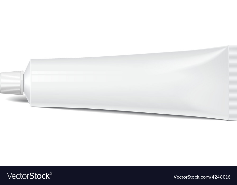 Realistic tube for cosmetics tooth paste vector