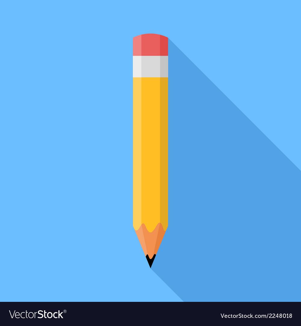 Pencil flat vector