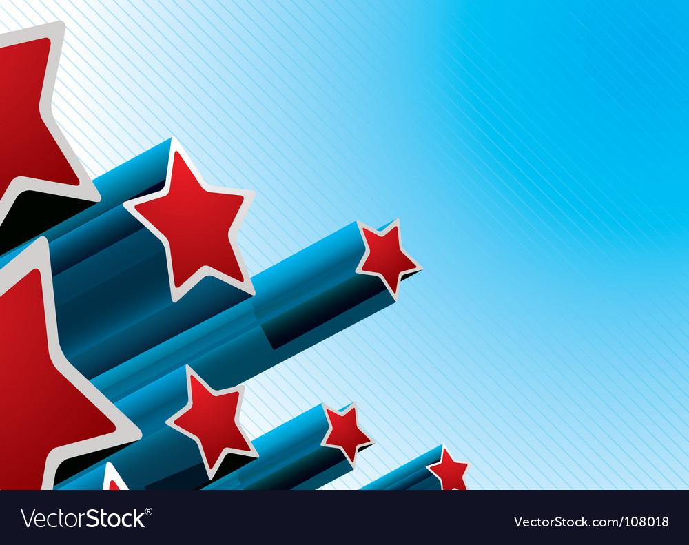 Star burst american vector