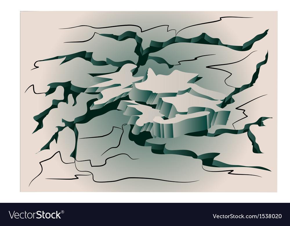 Earthquake cracked ground vector