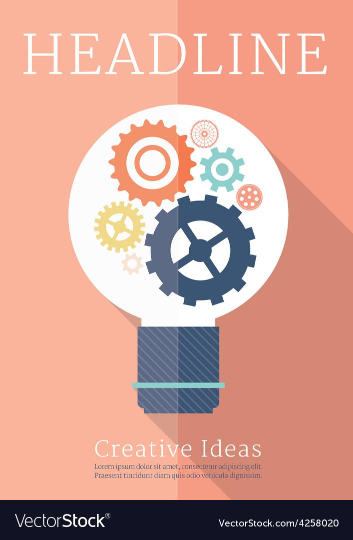 Retro business creative ideas poster vector