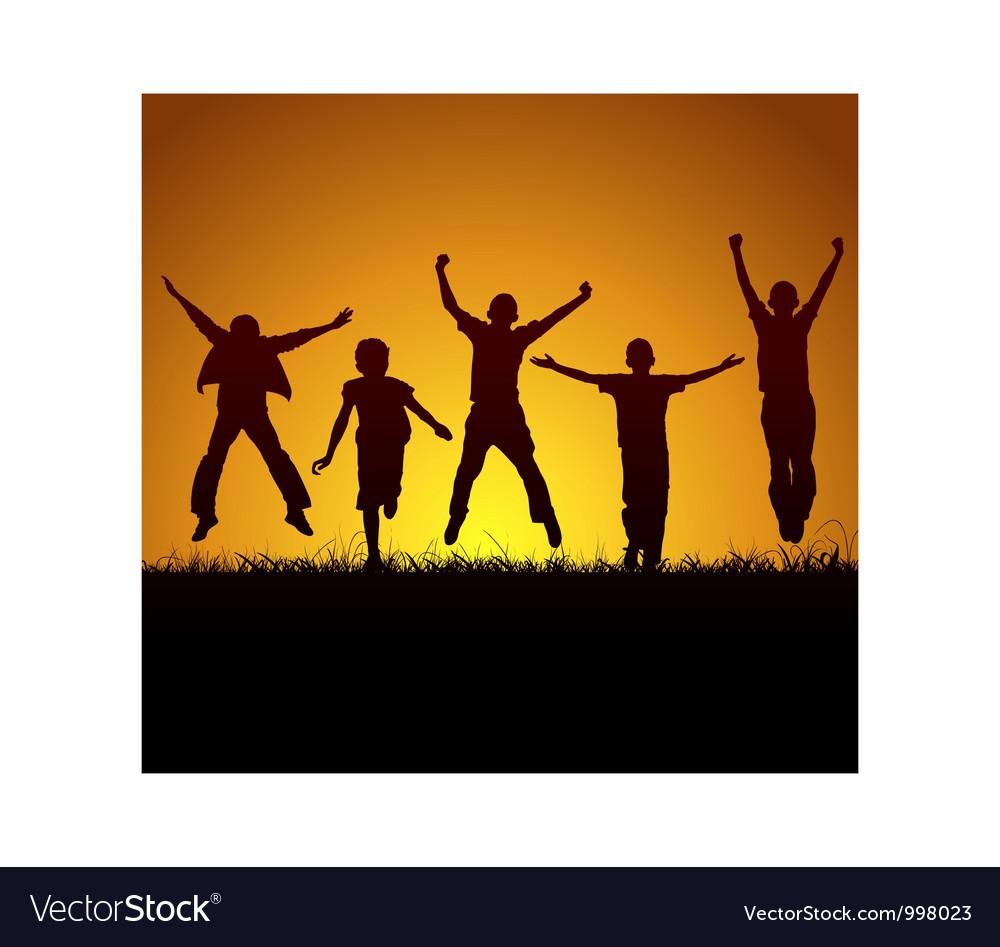 Joy of victory vector