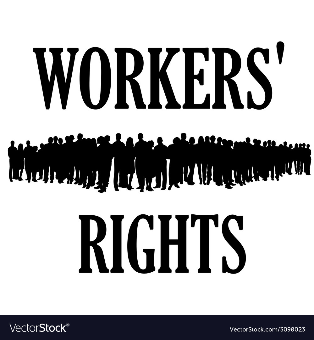 Workers rights silhouette vector