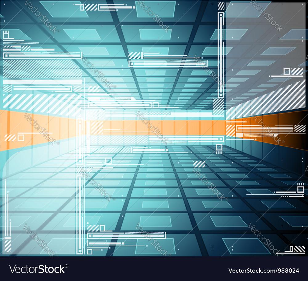 Abstract futuristic vector