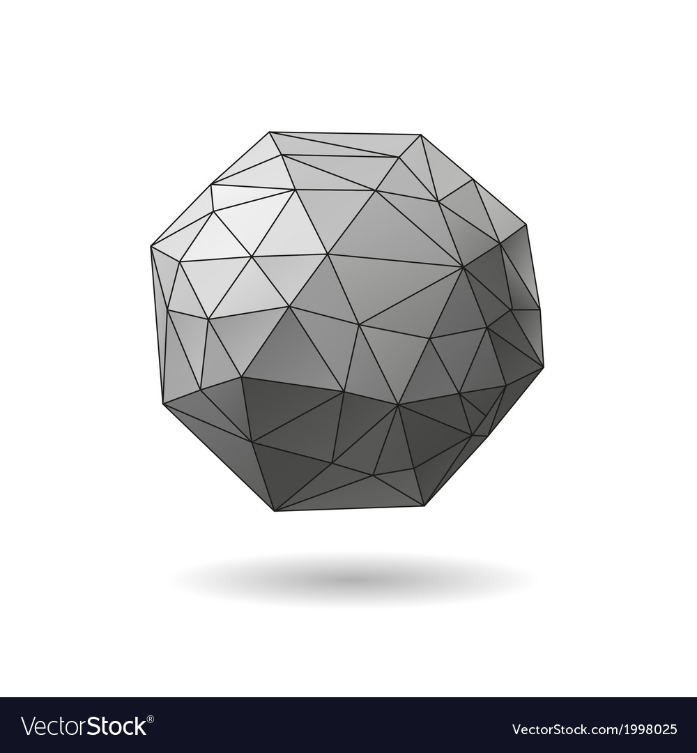 Abstract geometric shape isolated vector