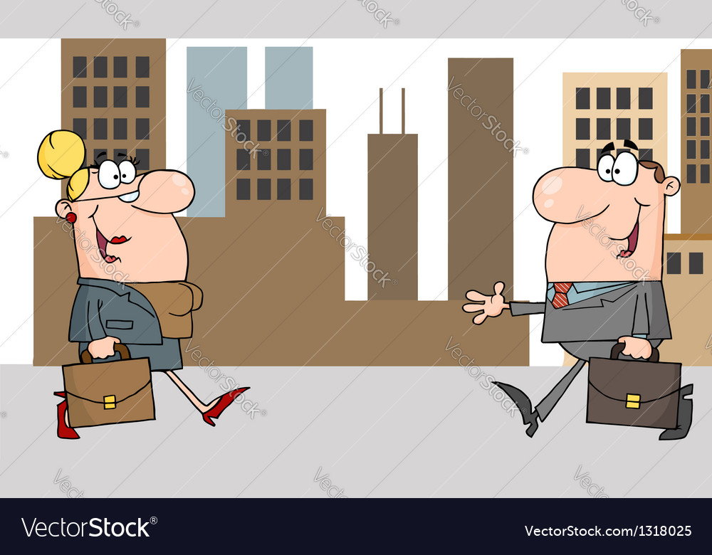 Business meeting between a woman and man vector