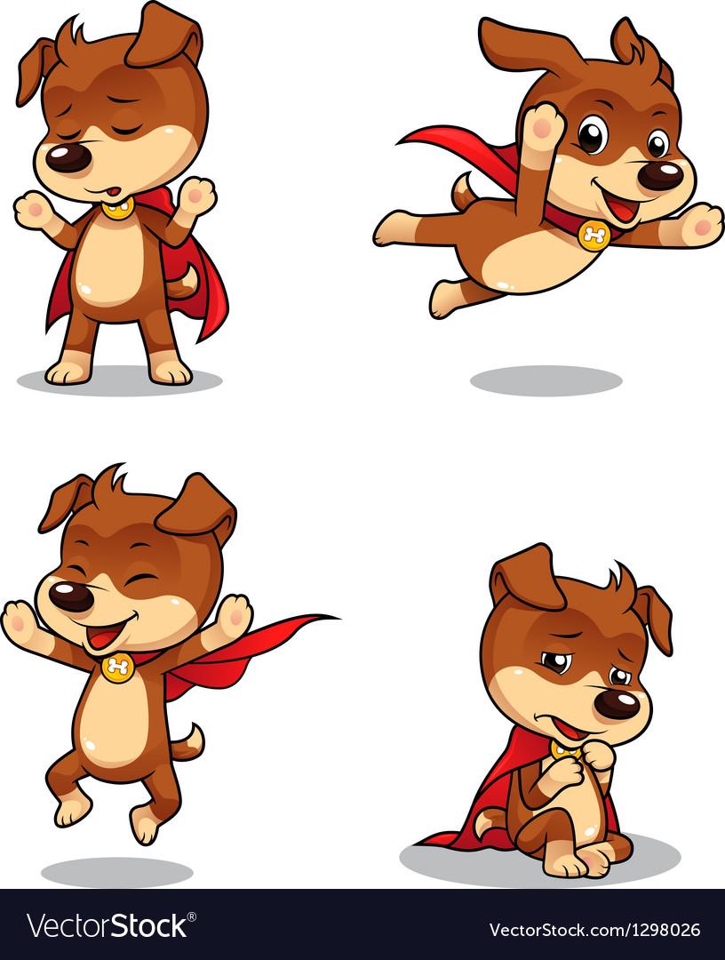 Superhero puppy dog 02 vector