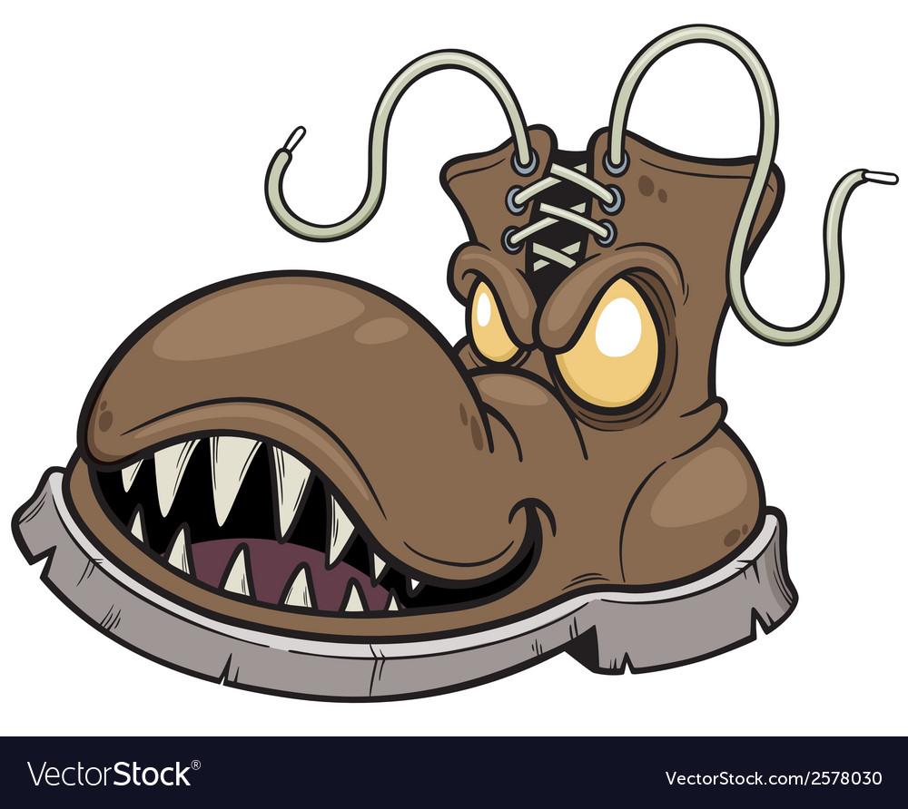 Monster boots vector