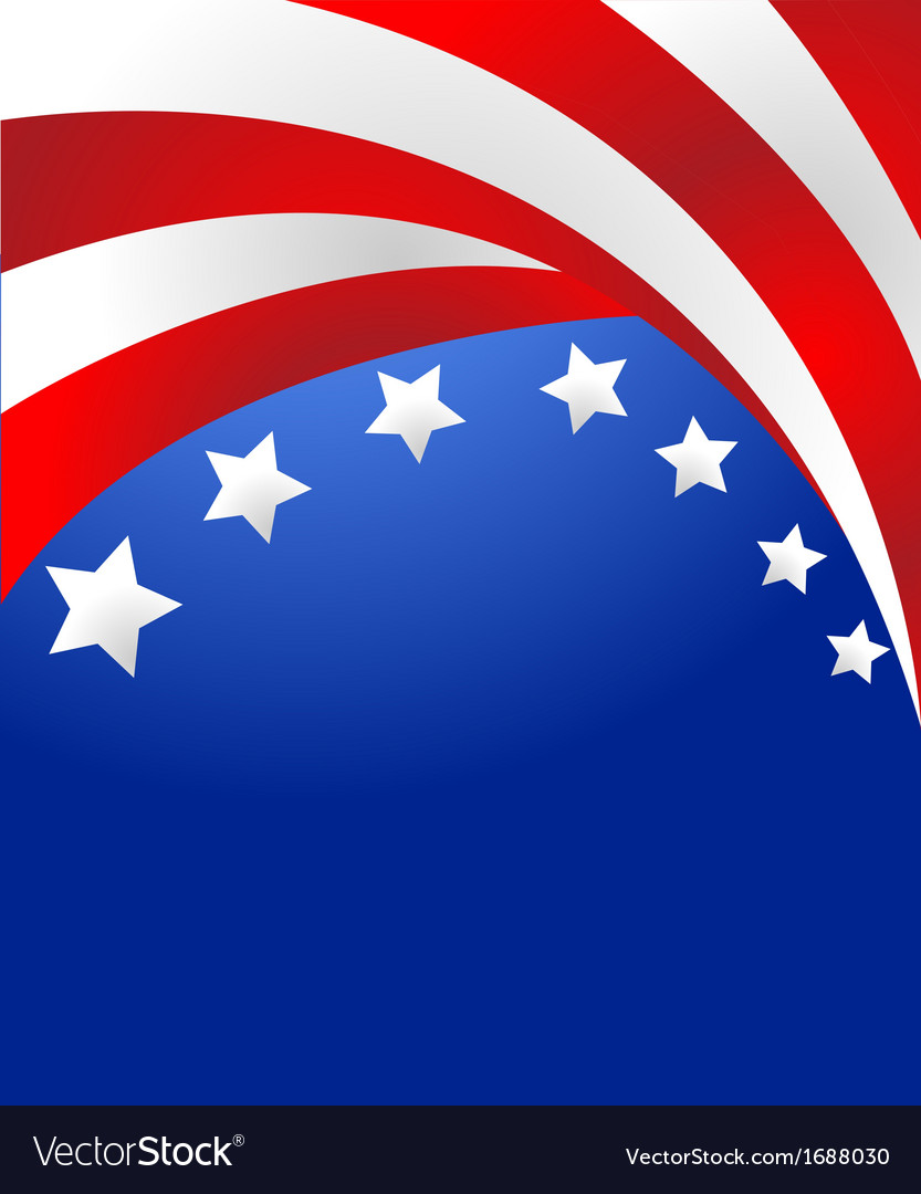 Stars and stripes background vector