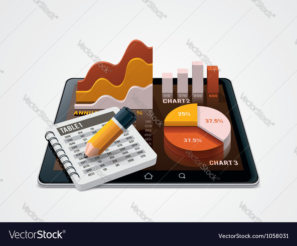 Chart and table editor icon vector