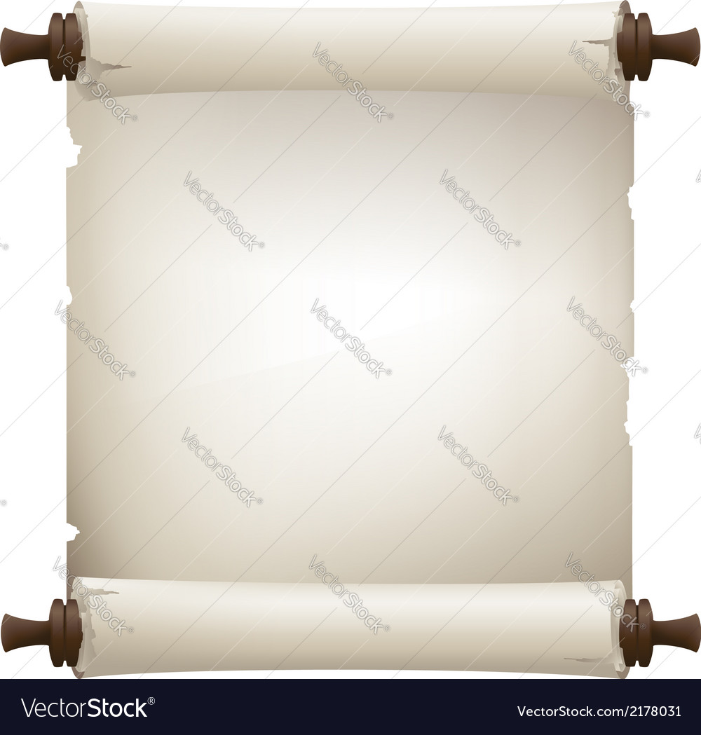 Scroll paper banner vector