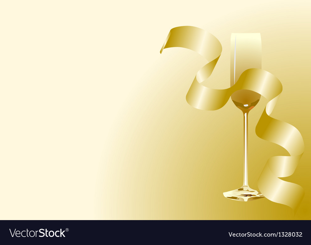 Abstract toast with champagne vector