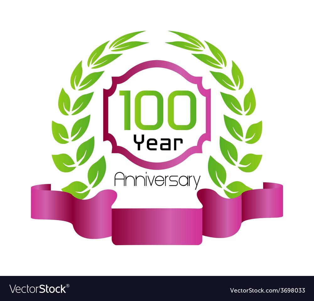 100 year birthday celebration vector