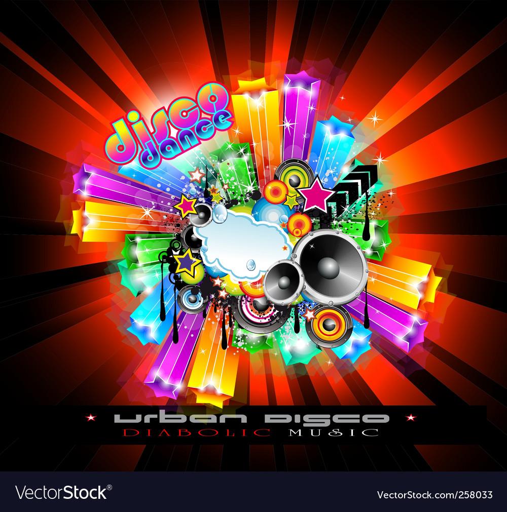 Nightlife disco vector
