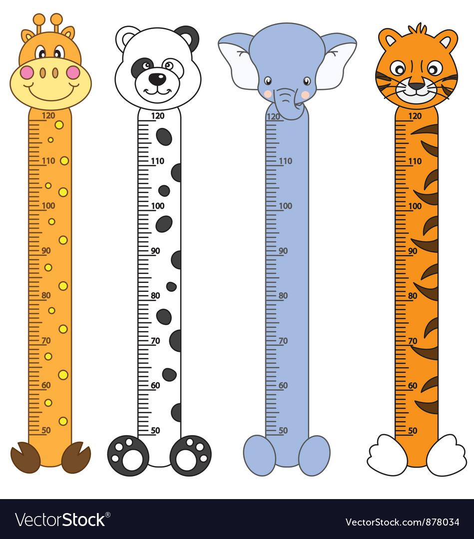 Children meter sticker wall vector