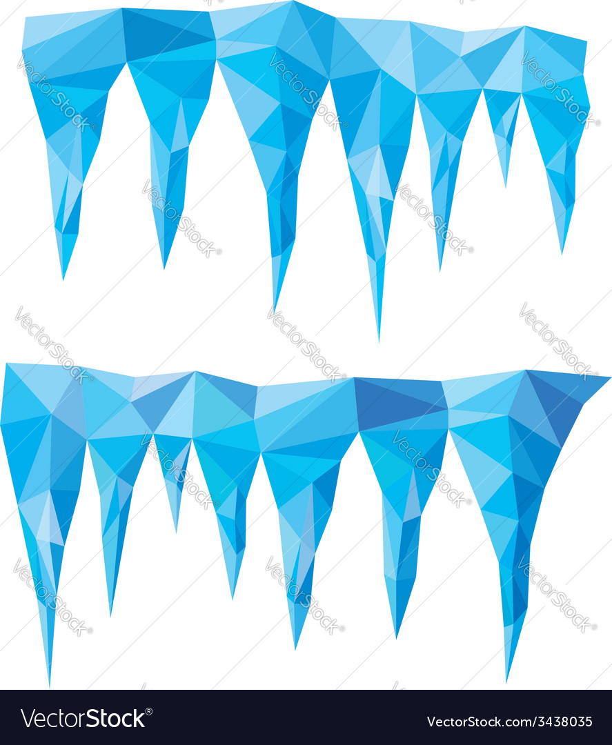 Blue crystal icicles vector