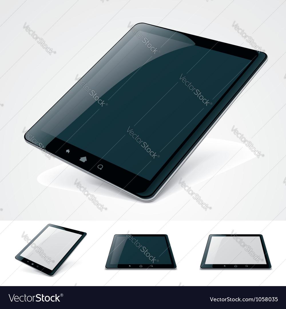 Generic tablet pc vector