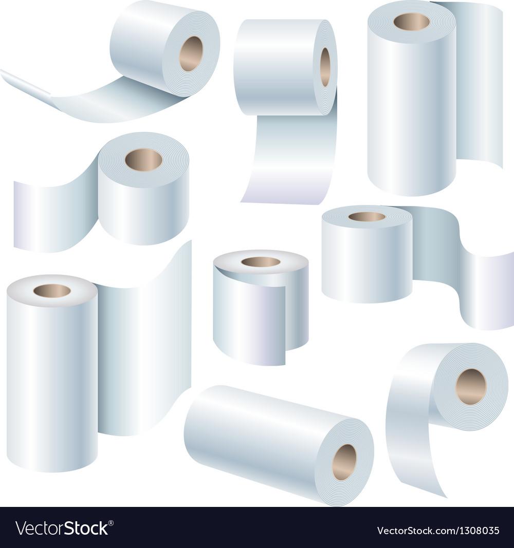 Paper roll set vector
