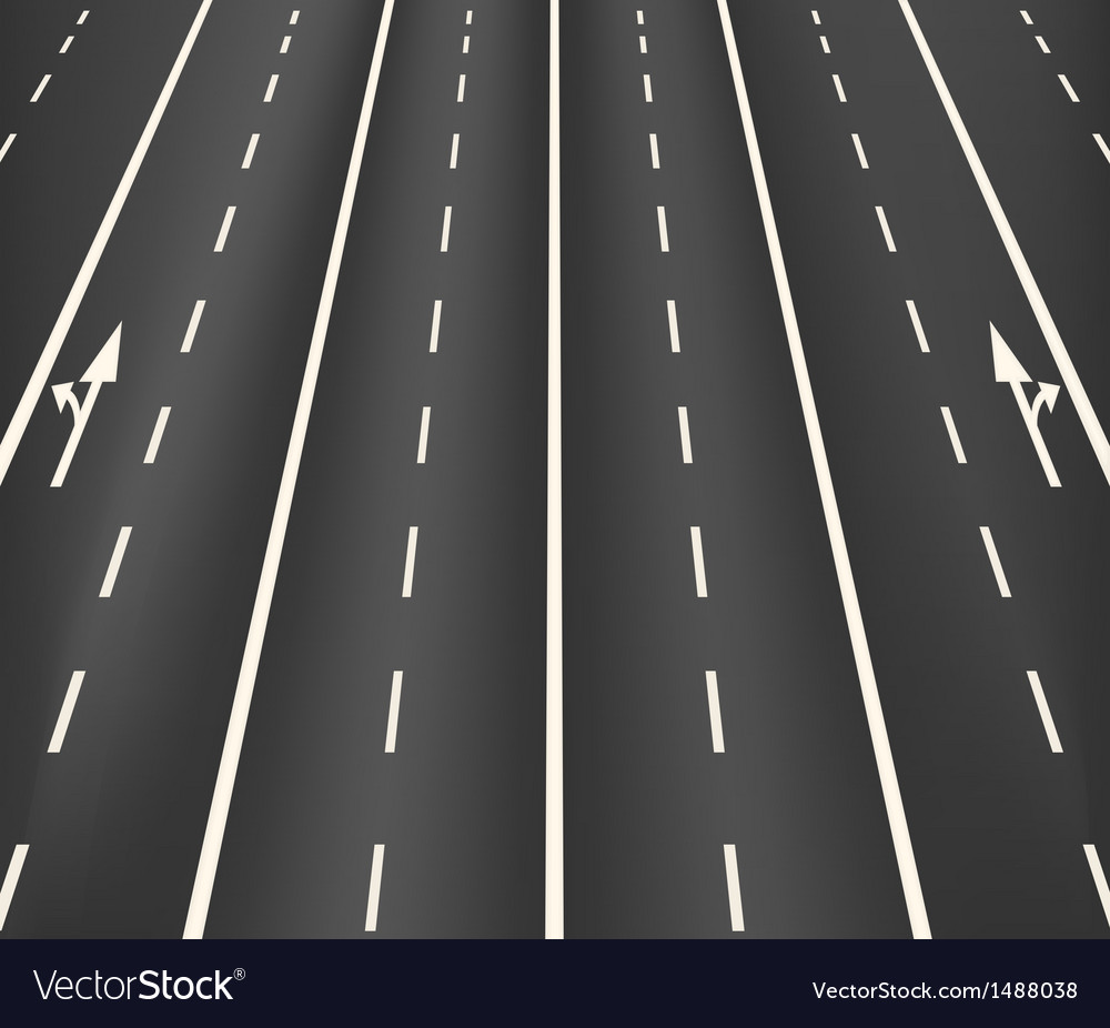 Lane road superhighway vector