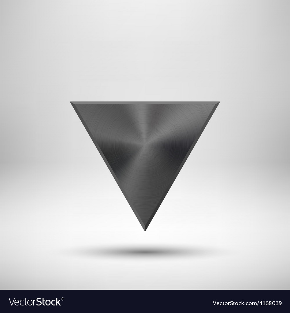 Black abstract triangle button template vector