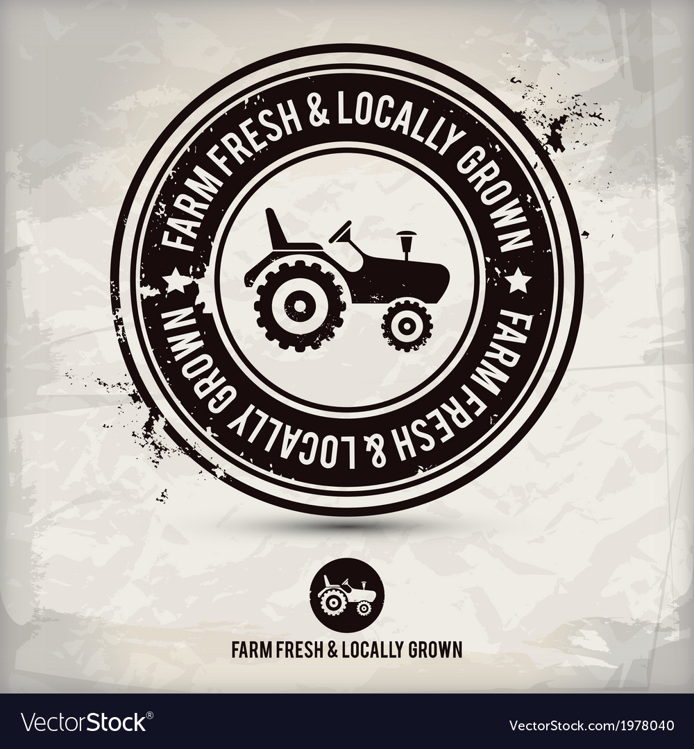 Alternative farm fresh locally grown stamp vector