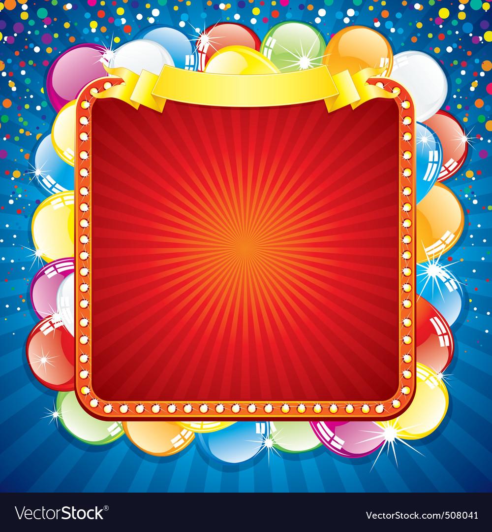Colorful festive billboard vector