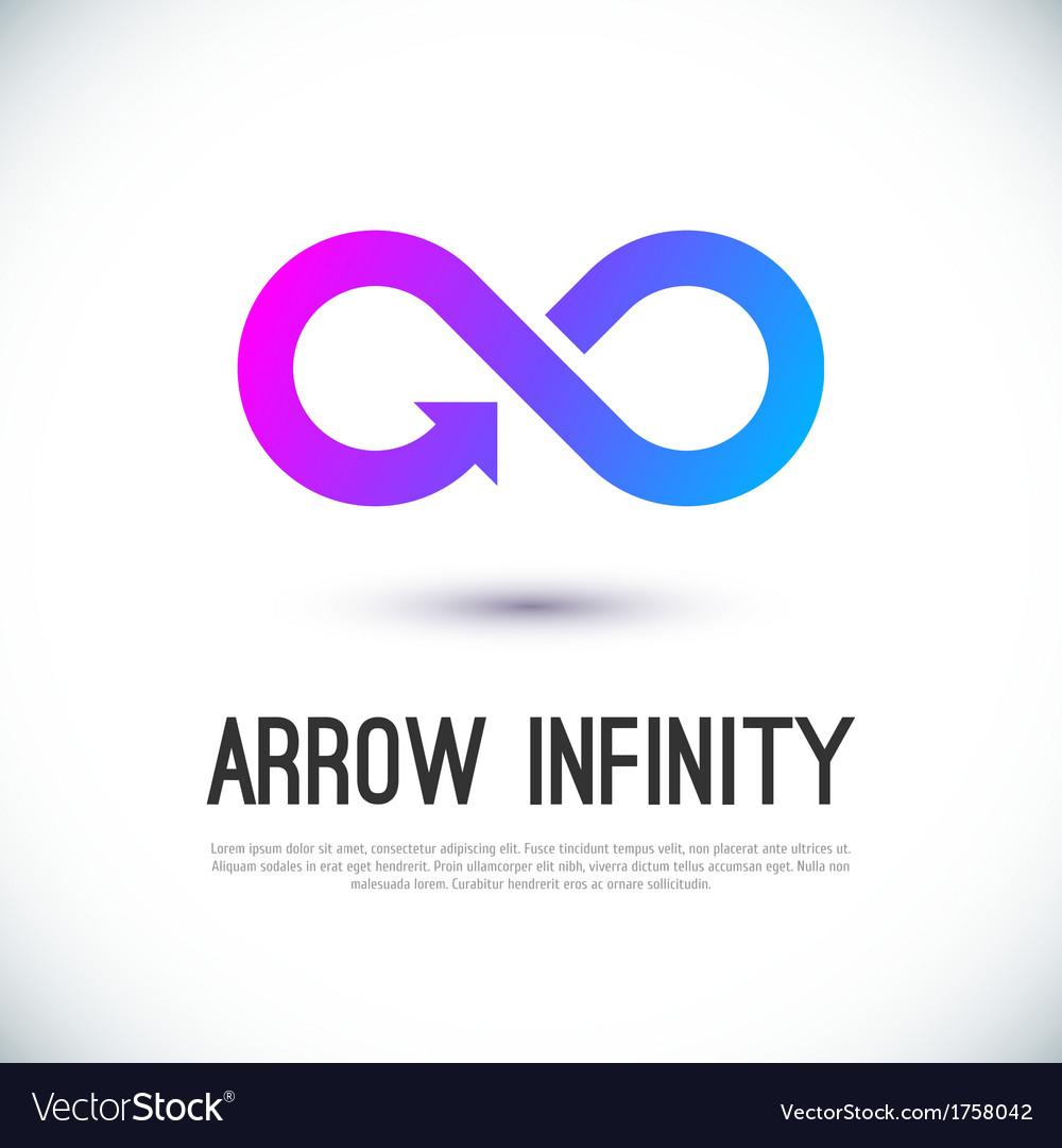 Arrow infinity business logo vector