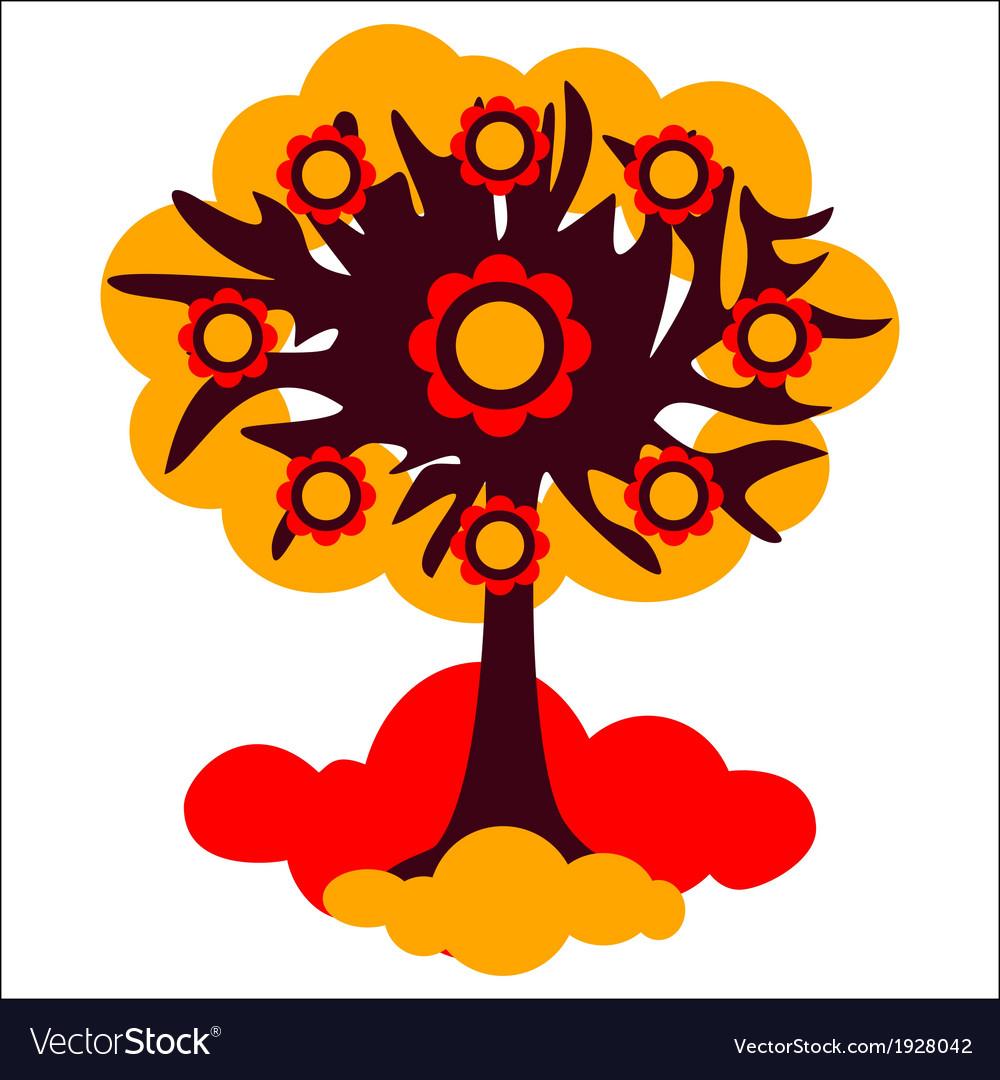 Tree autumn vector